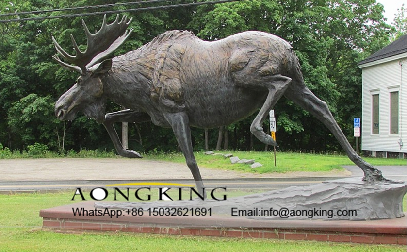 the bronze deer statue