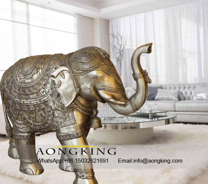 the bronze elephant sculpture