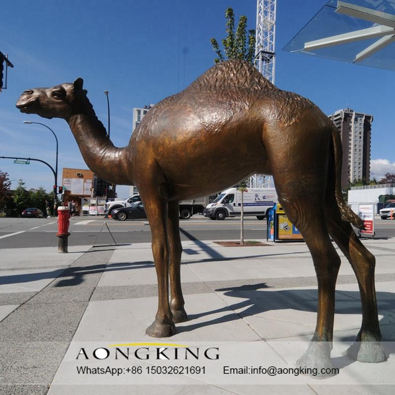 Resin camel sculpture