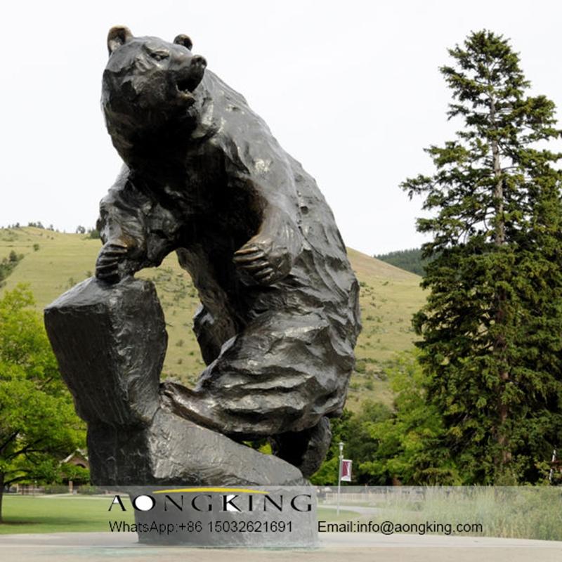 Sculpture modern art bear