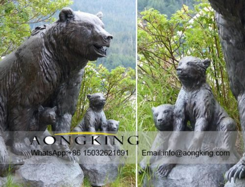 Square  Bronze Bear