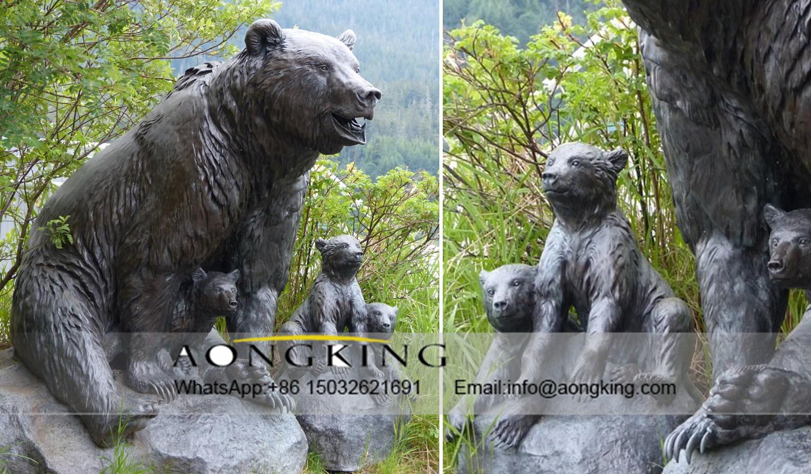 Square Bronze Bear