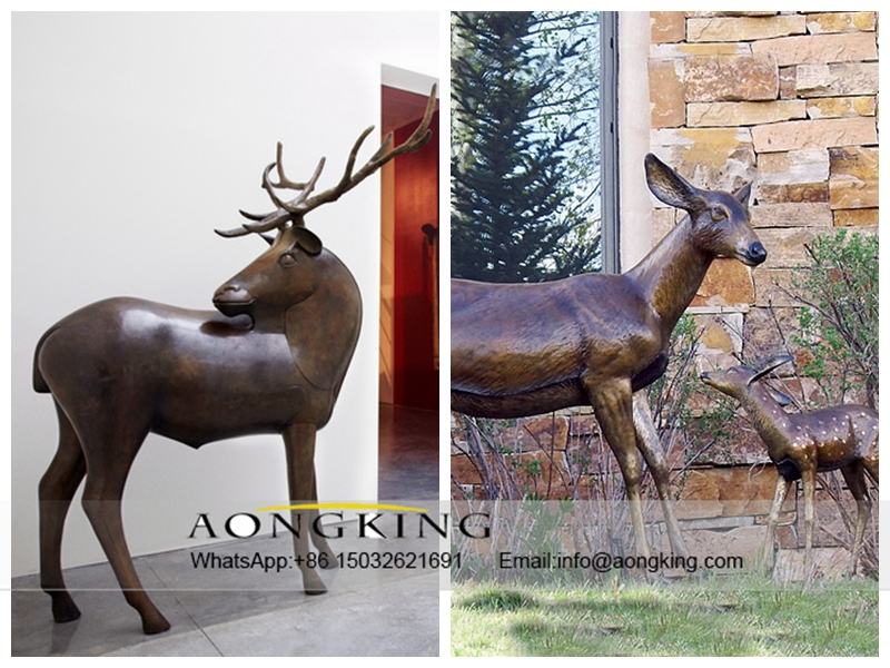 Stag And Doe Bronze