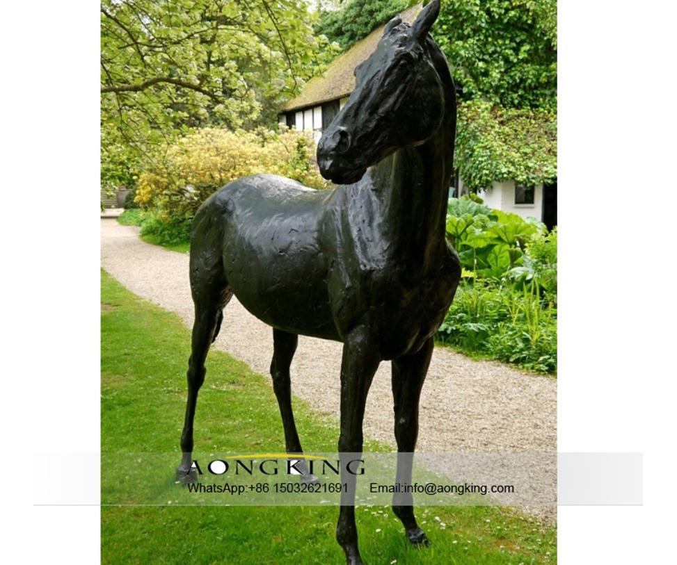 Yellow bronze horse