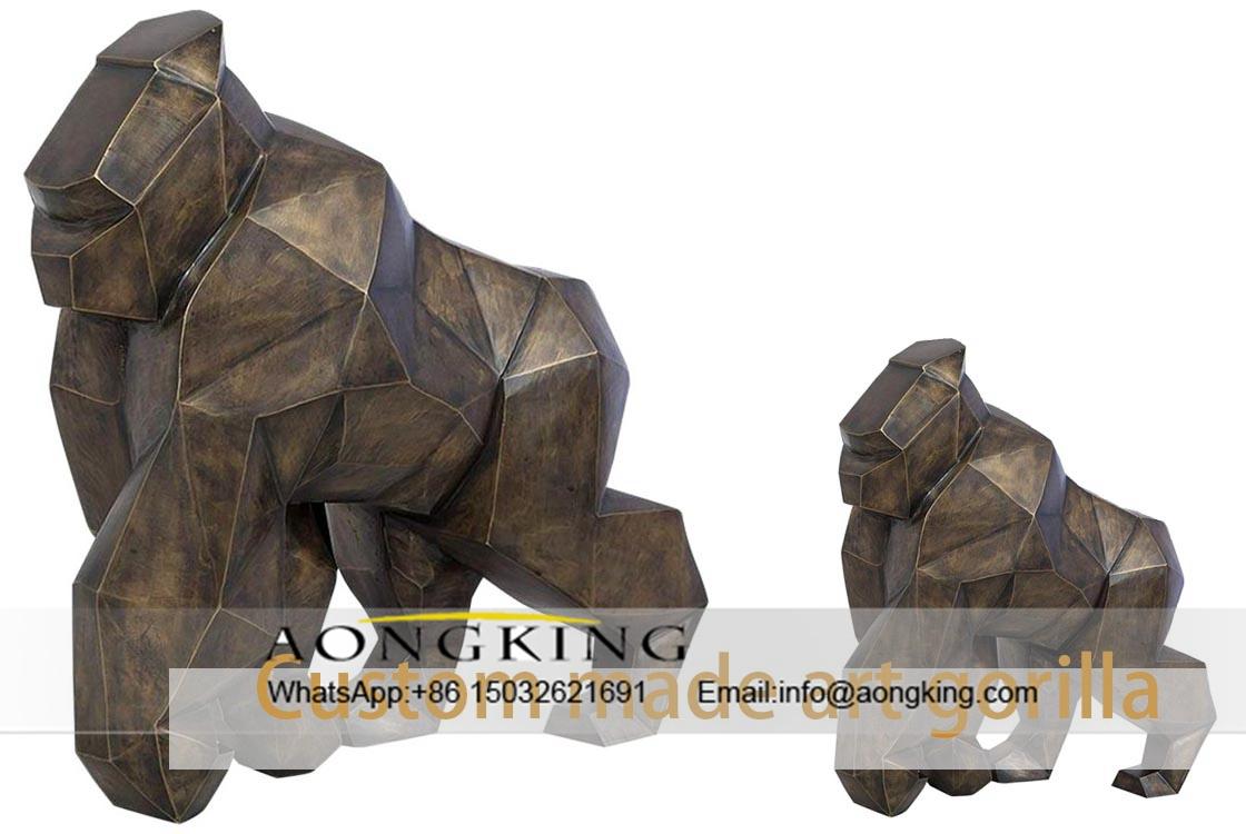 Bronze art gorilla