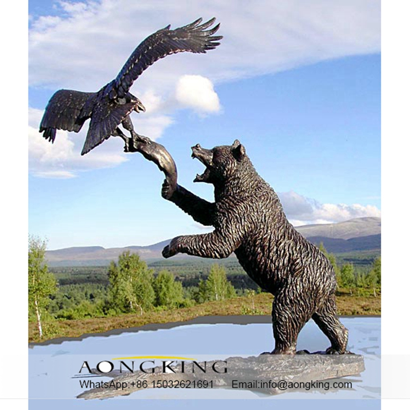 bear and eagle