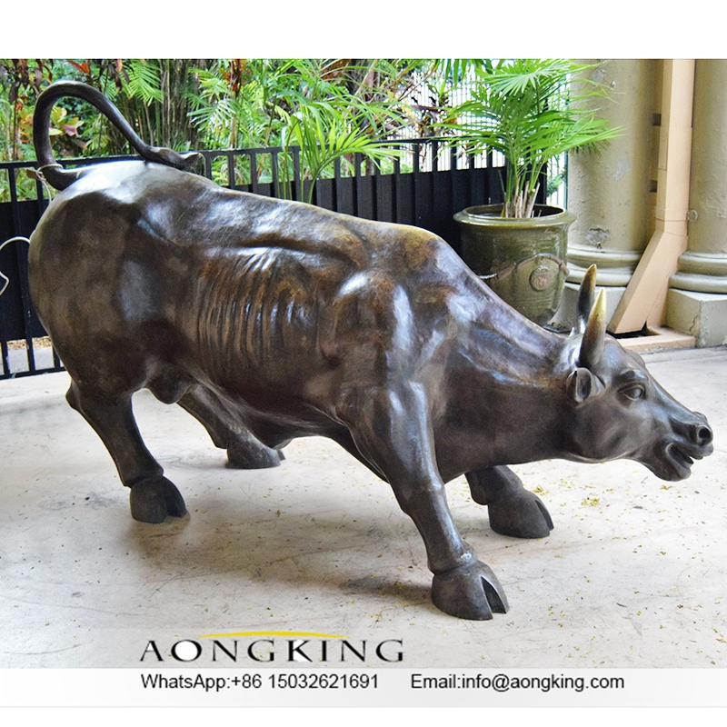 bull bronze sculpture
