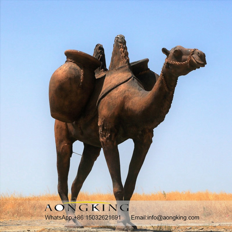 camel bronze animal statue