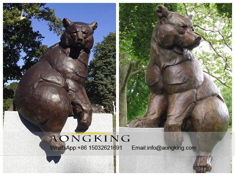 Outdoor Life-size Bronze Bear