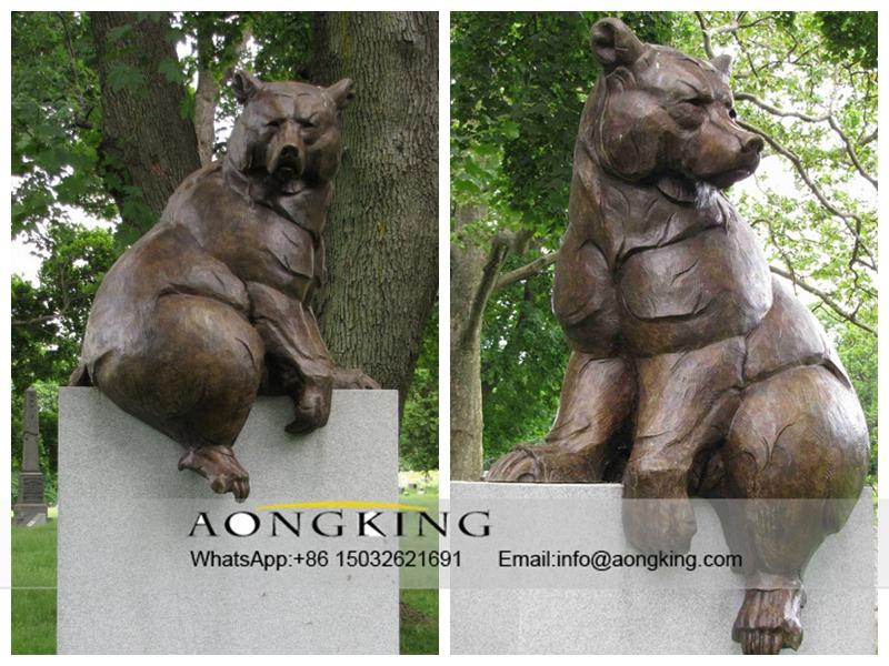 Cast Bronze Bear