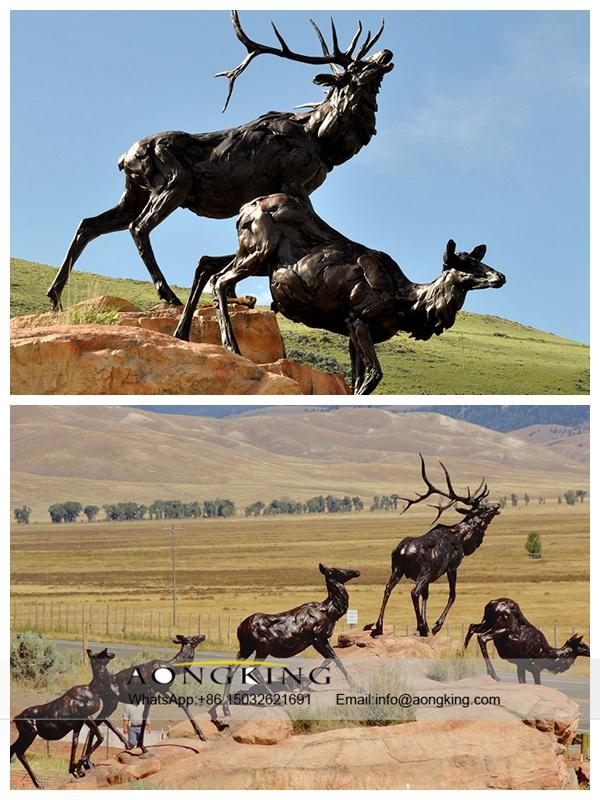Bronze Moose cast Statue