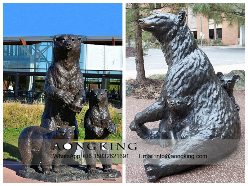 Bronze Grizzly Bear
