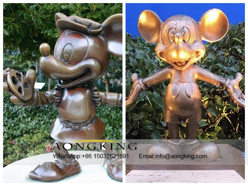 Copper cartoon Mickey