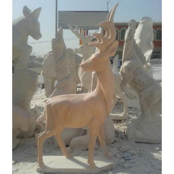 gold deer statue