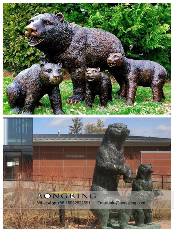 Family Bronze Bears