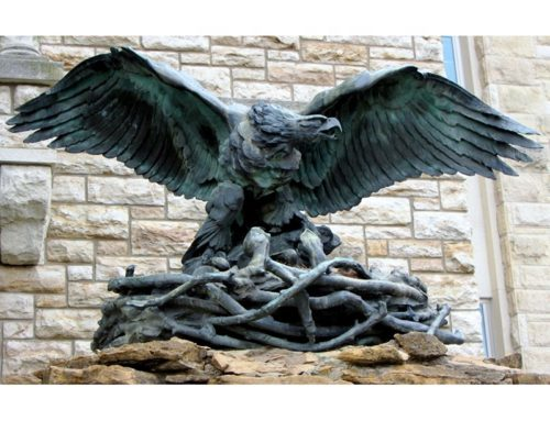 Eagle bronze sculpture
