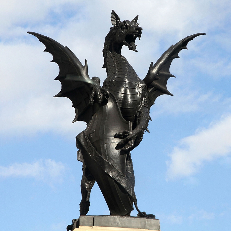 The winged dragon sculpture