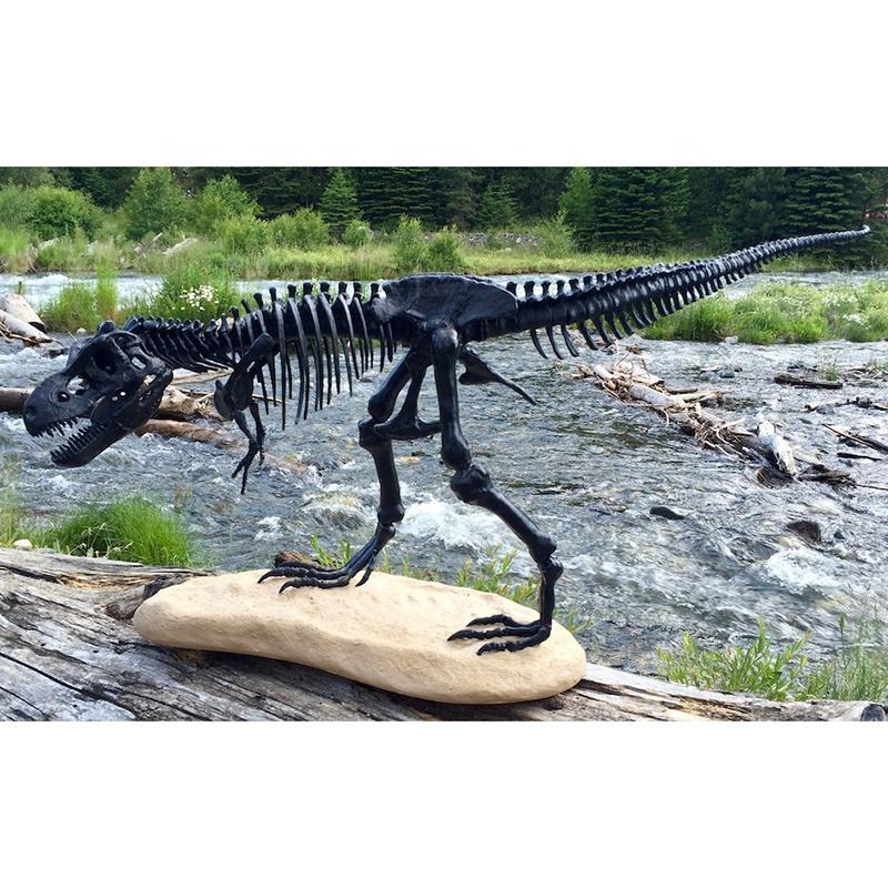 Dinosaur skeleton sculpture