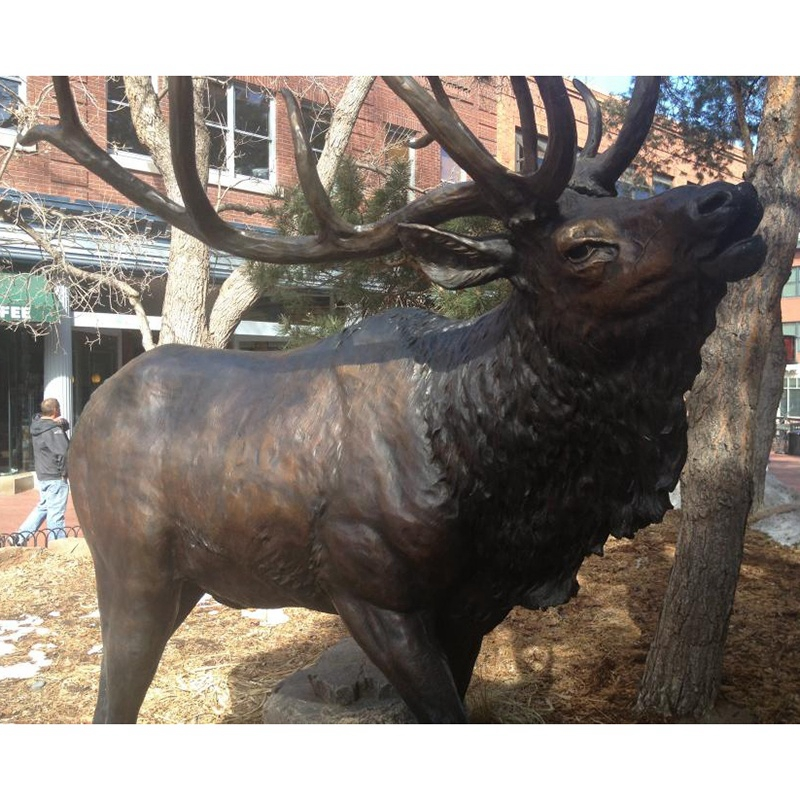 Large deer bronze sculpture