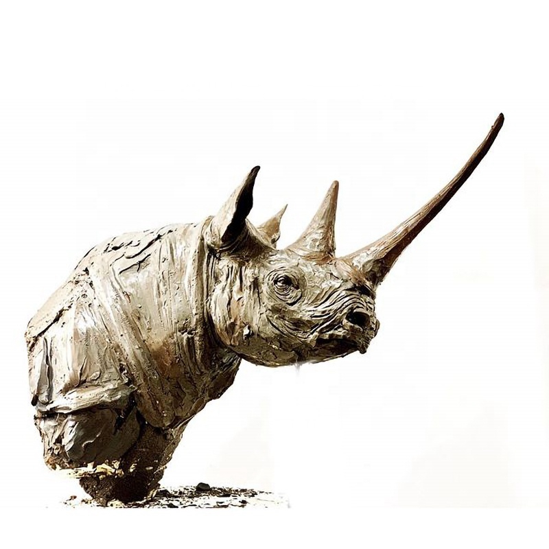 bronze buffalo sculpture