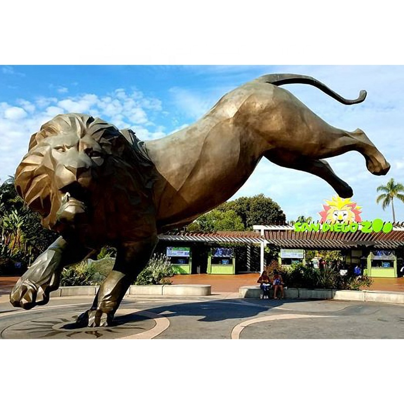 Large outdoor lion sculpture