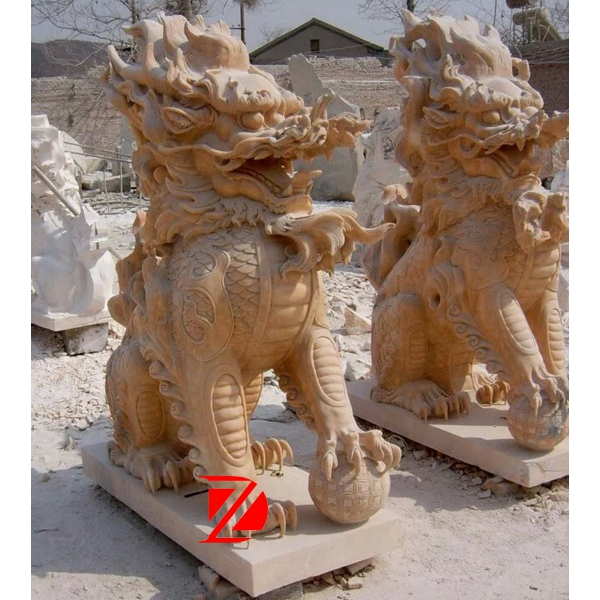 Large Chinese dragon stone sculpture