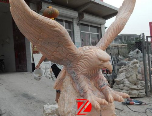Large eagle garden stone sculpture
