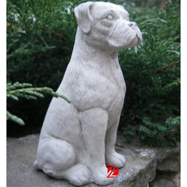 Garden dog stone sculpture