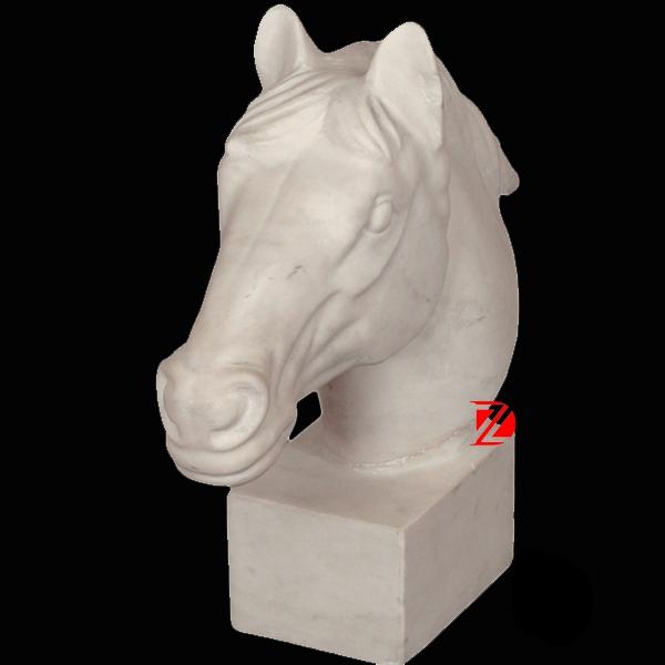 Horse head marble sculpture