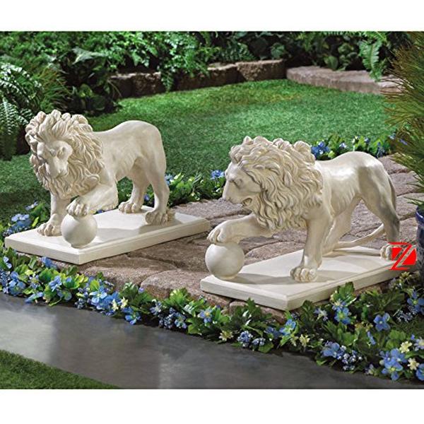 Lion dance ball sculpture