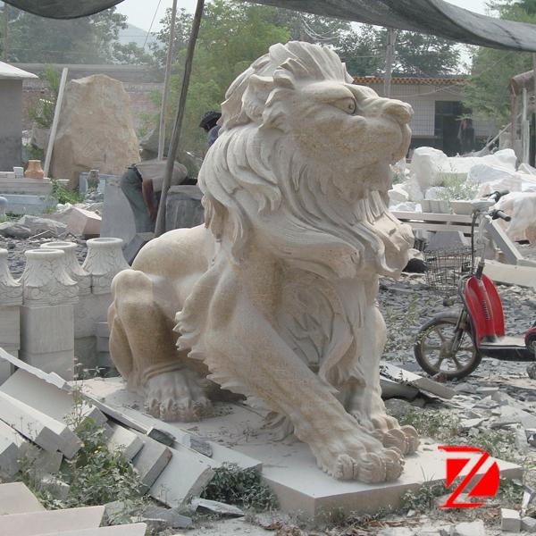 Large lion stone sculpture
