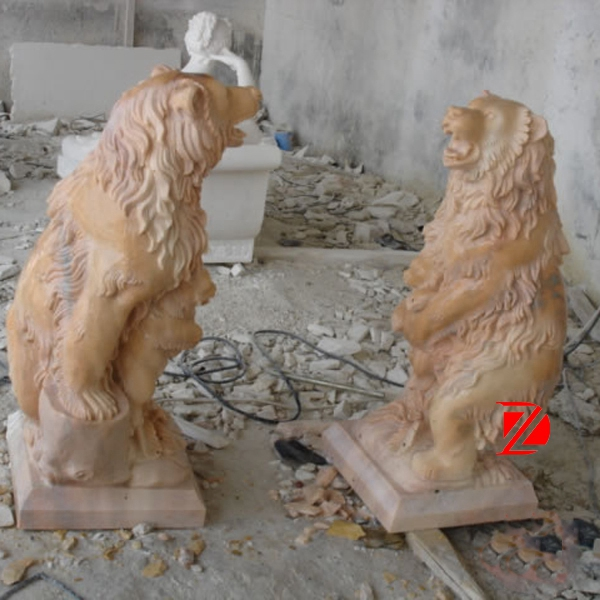 Nature yellow marble bear