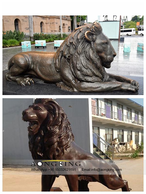 Copper Lion Sculptures