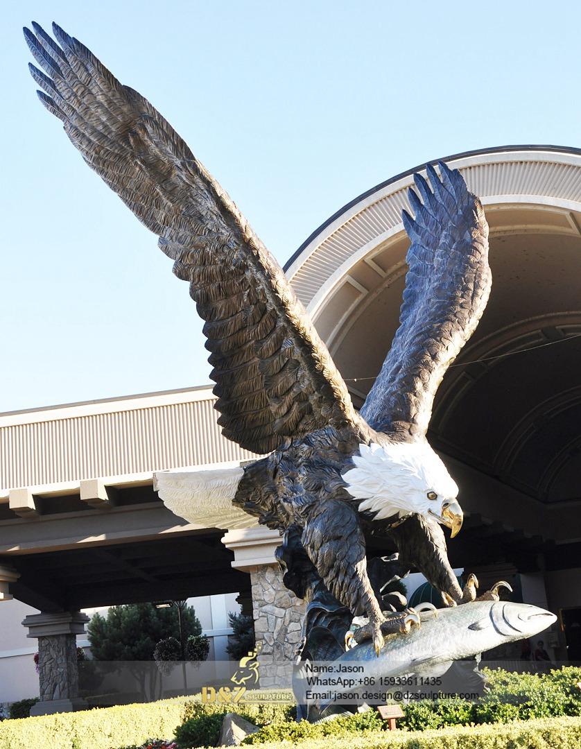 Copper statue of eagle