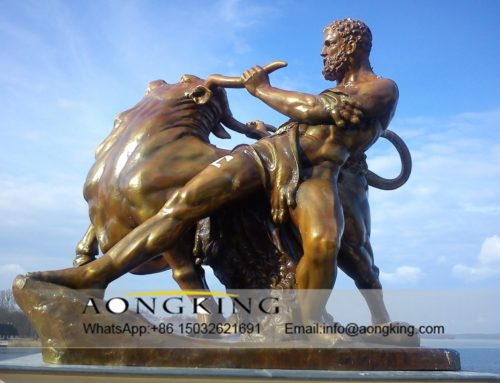 Bullfighting of statue