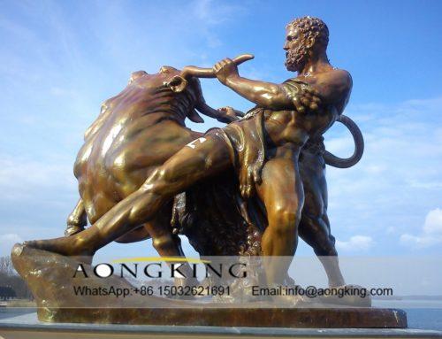 Bullfighting of statue