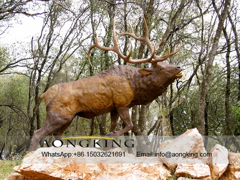 Elk Statue For Autumn Song
