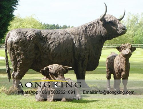 Highland Cattle statue