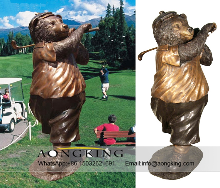 abstract bear statue