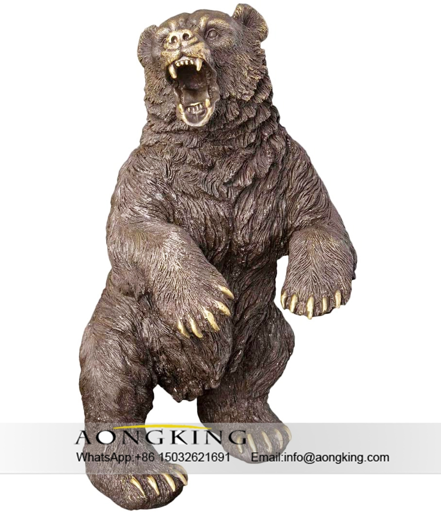 bear statue with golden tooth