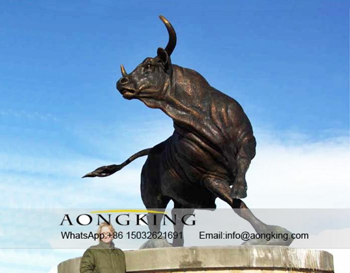 bronze ox statue