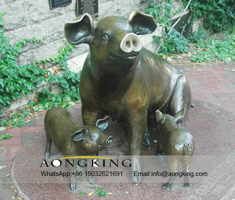 livestock statue of pig