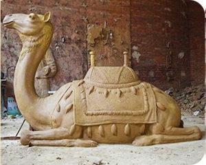 clay camel sculpture