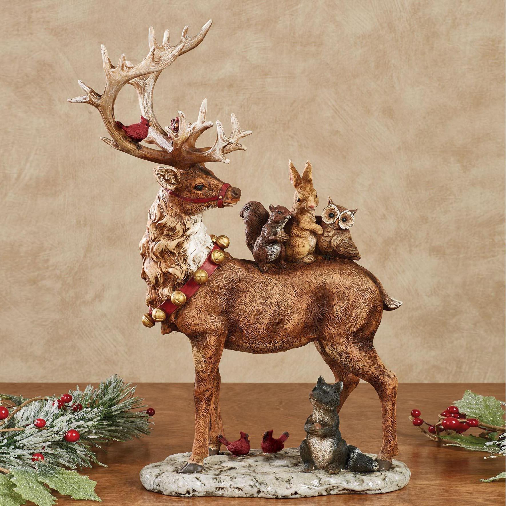 reindeer sculpture for Christmas decorations