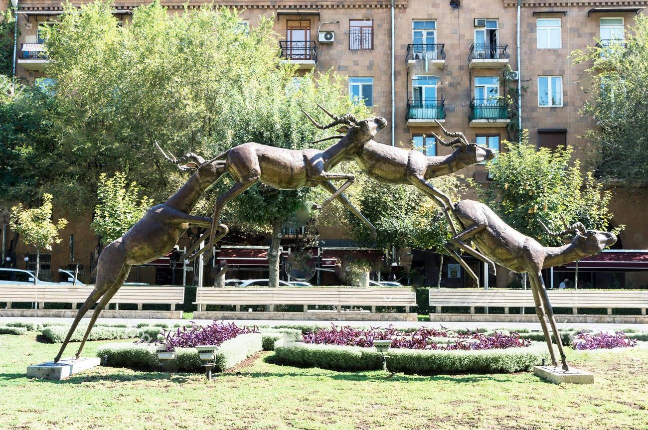 Large Kinds of Antelope Pronghorn Art Decor Statues
