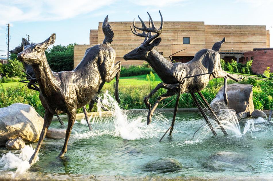 High Quality Life Size Running deer Bronze sculptures