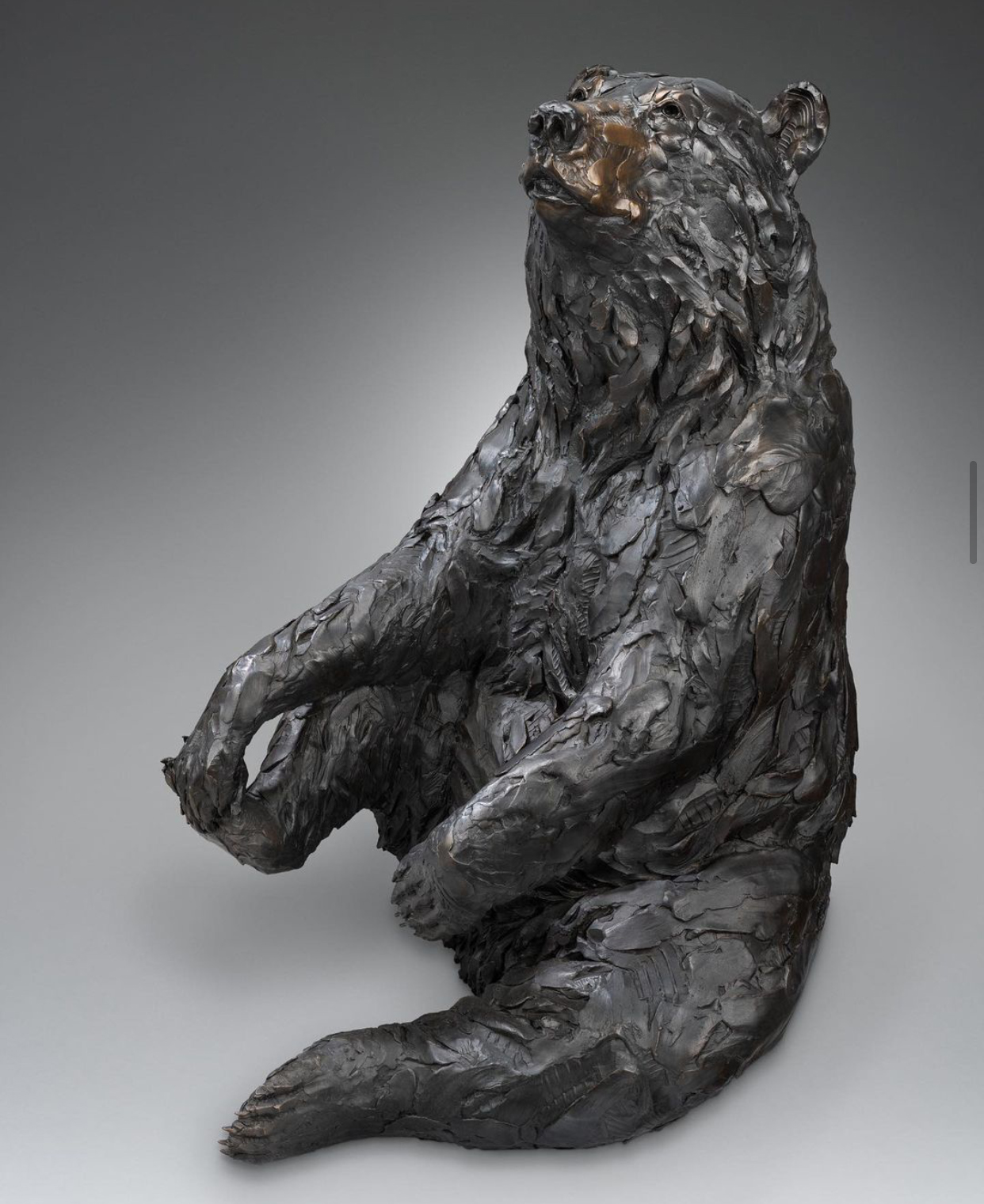 High Quality Mama Bear Sitting Bronze Statue For Decoration