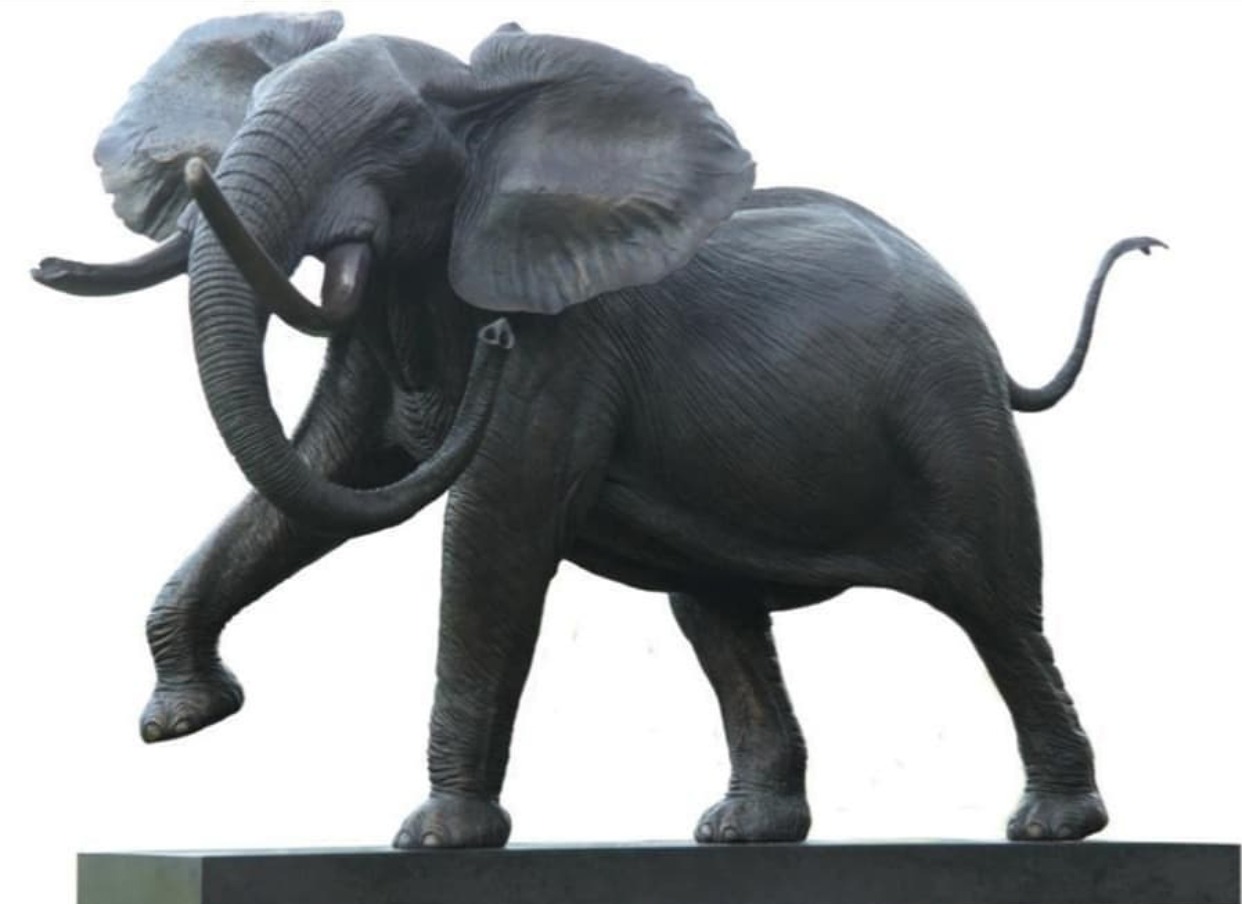 Best Selling Realistic Large Elephant Bronze Statue