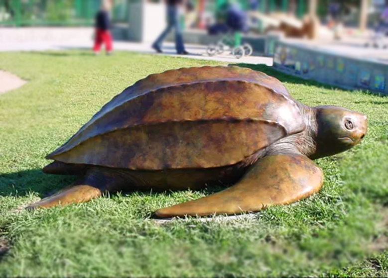 Leatherback turtle Bronze sculpture for animal Lawn