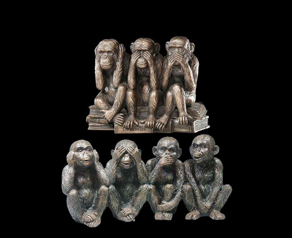 Macaque art Animal Bronze statues for monkey rescue